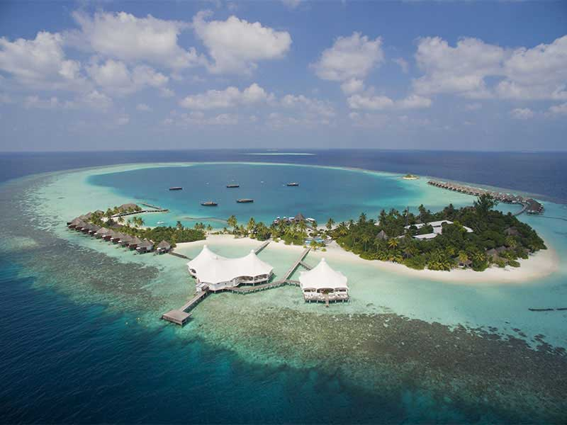 Maldives - Safari Island Resort and Spa - Vue aérienne